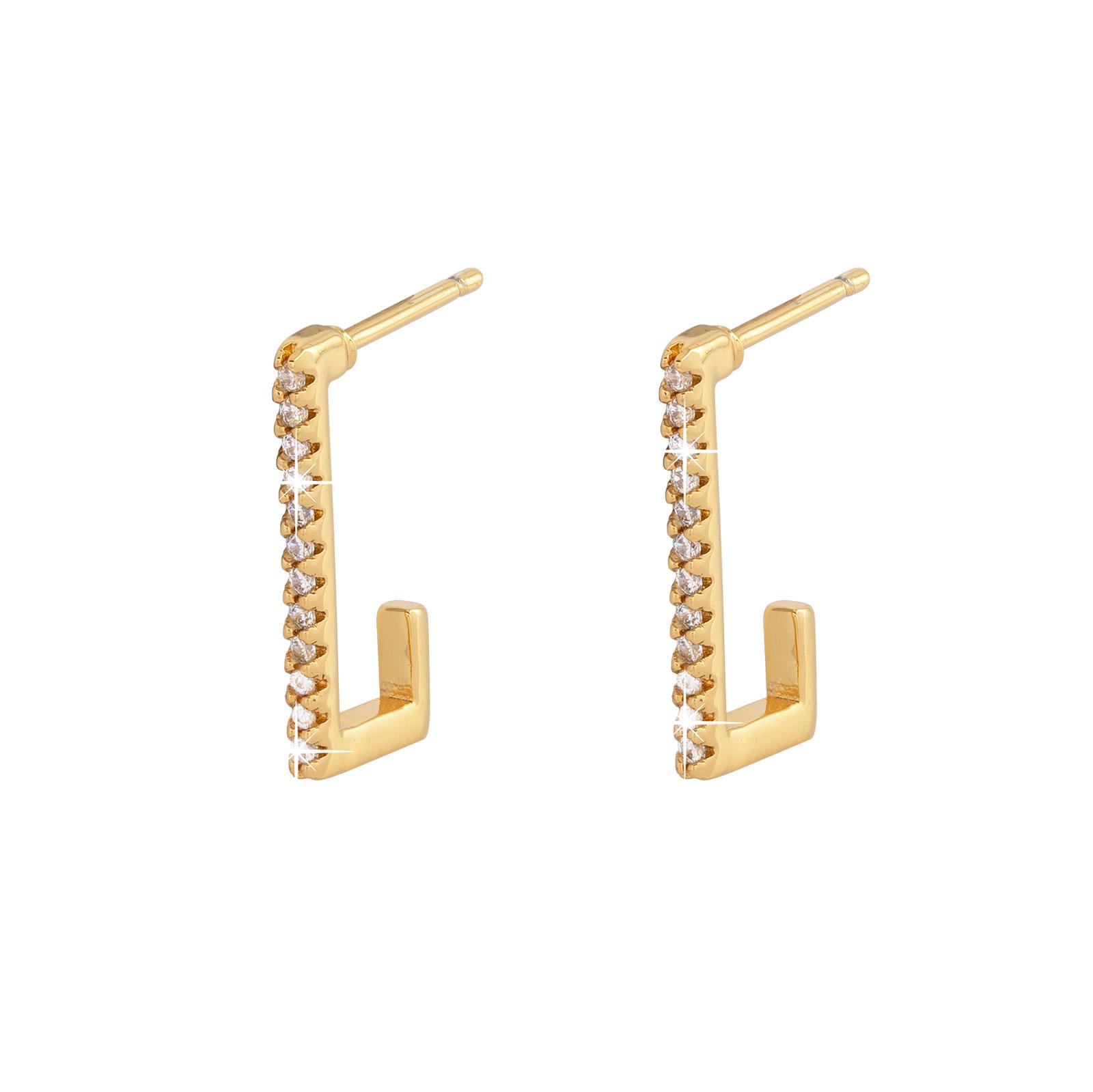 Guldpläterade örhängen -16mm