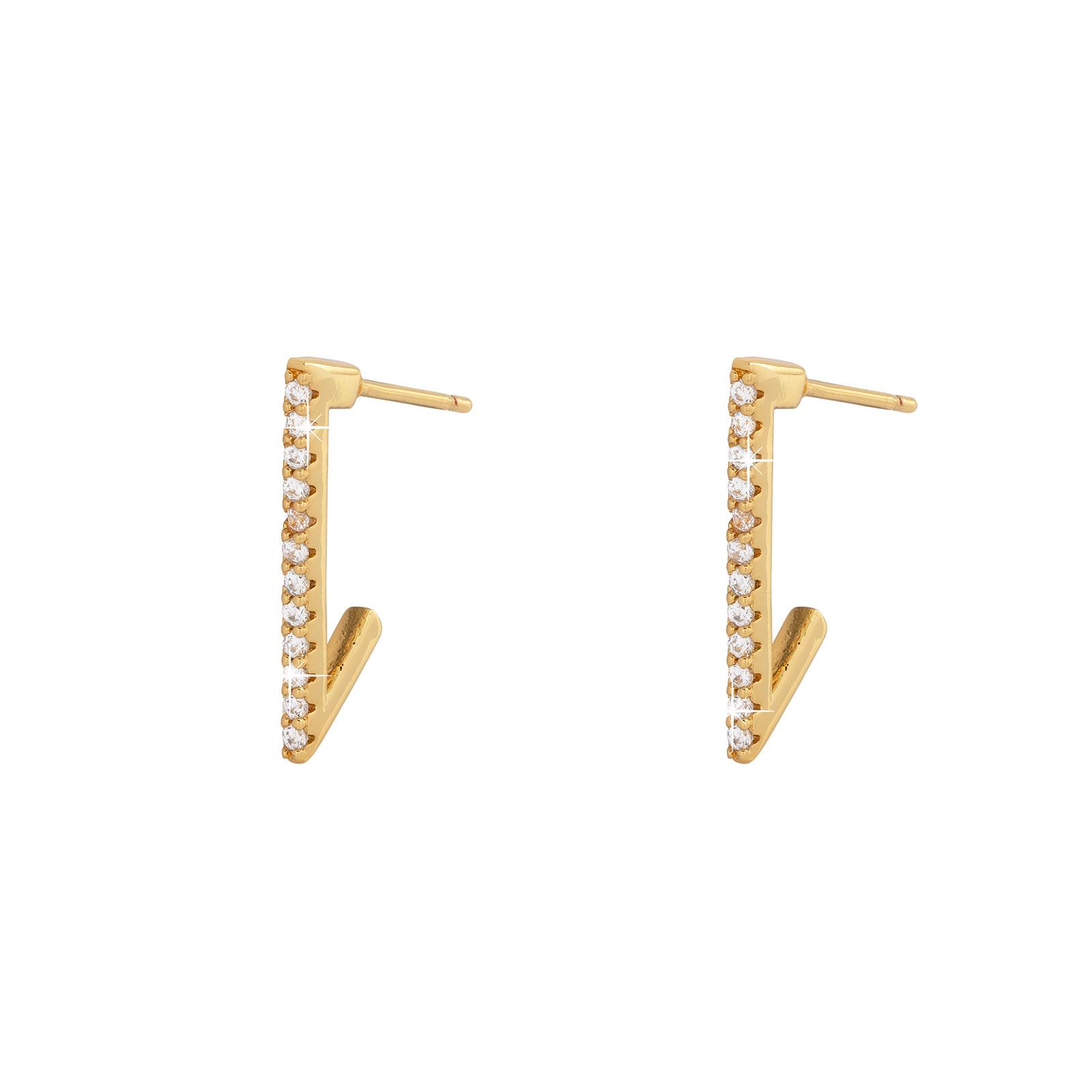 Guldpläterade örhängen -20mm