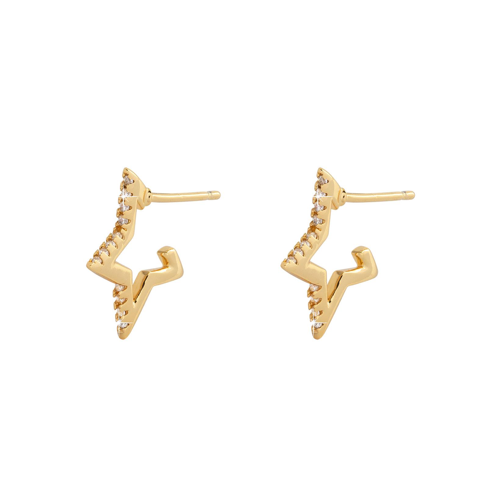 Guldpläterade örhängen -Stjärnor 17mm