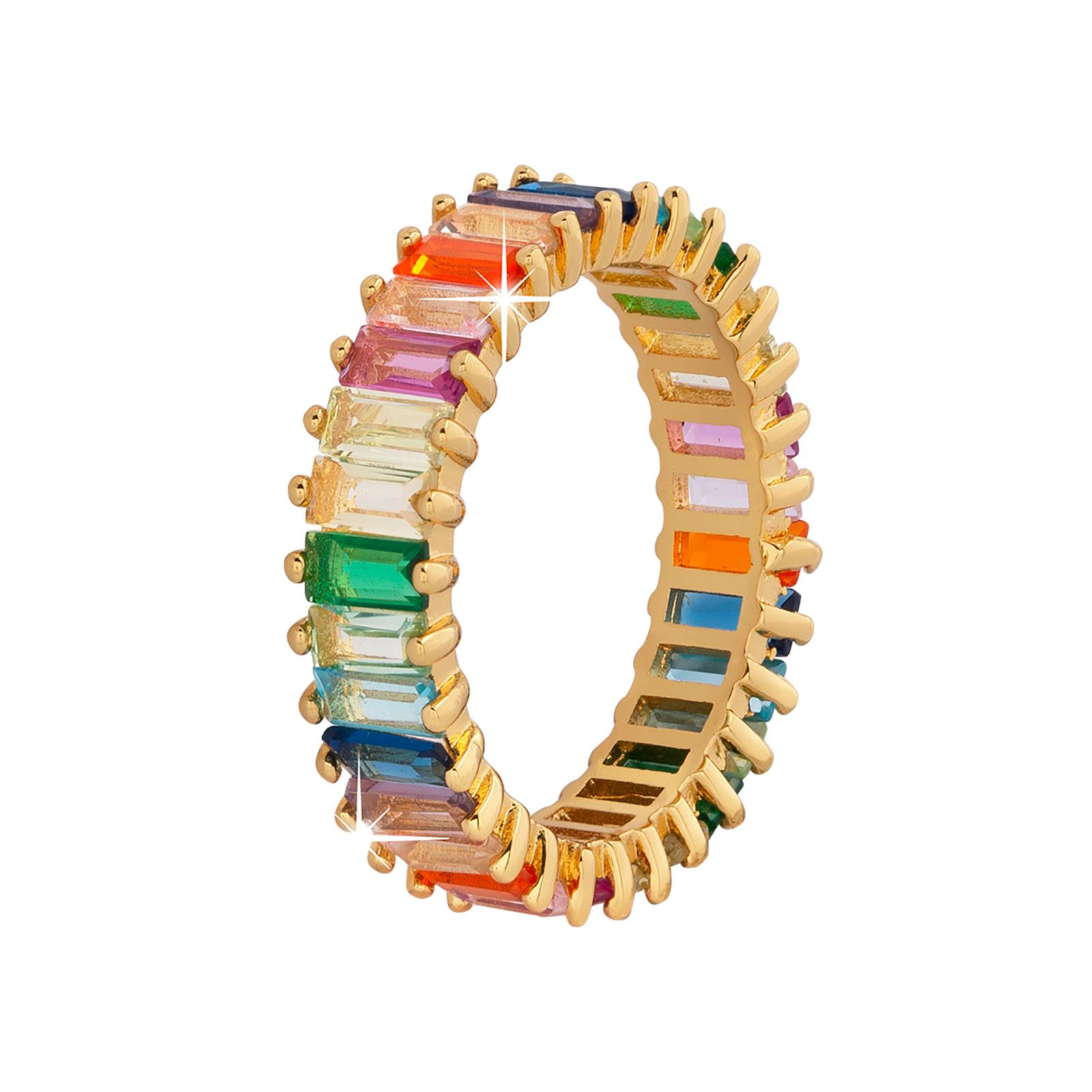 Guldpläterad ring -Multifärg