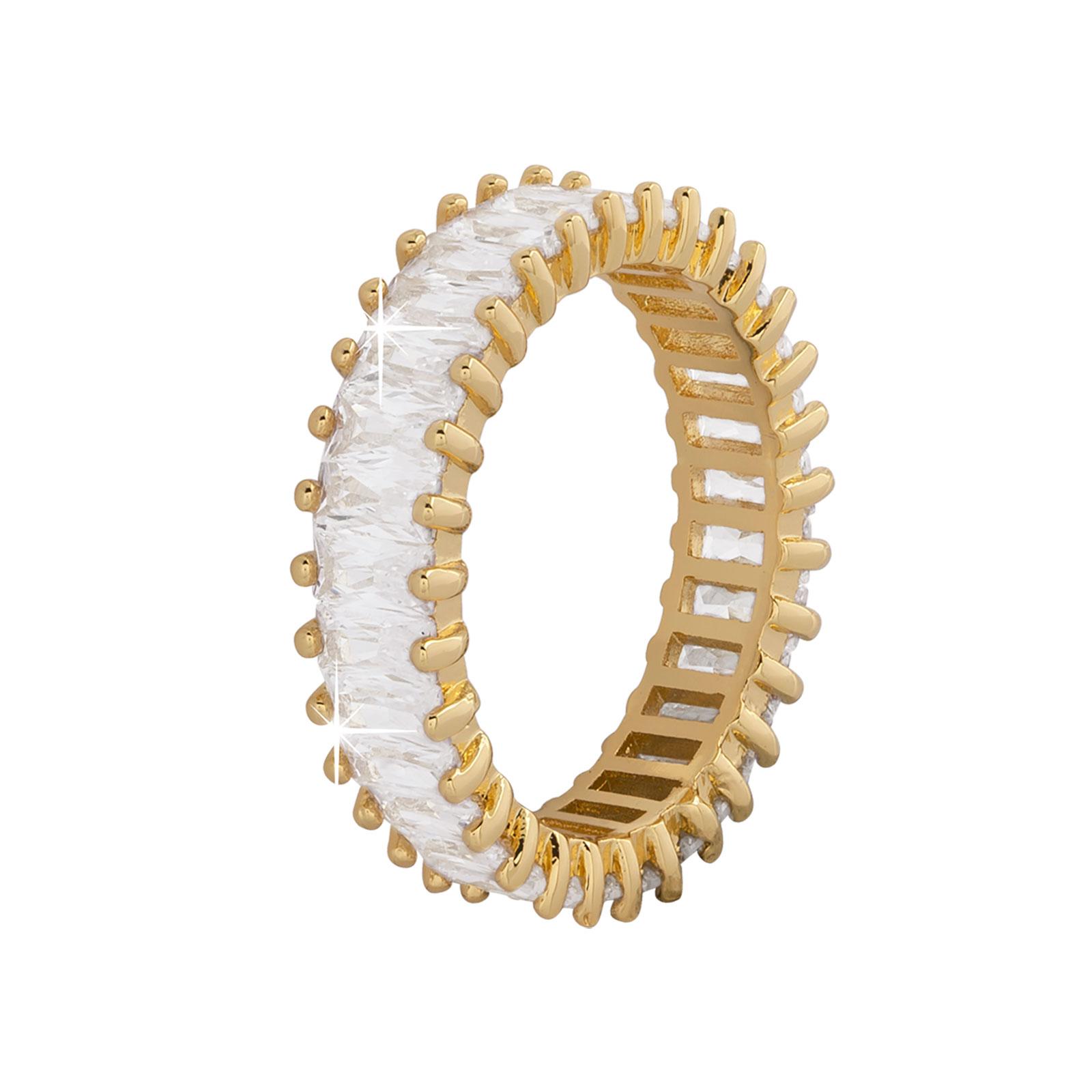 Guldpläterad ring - Vit