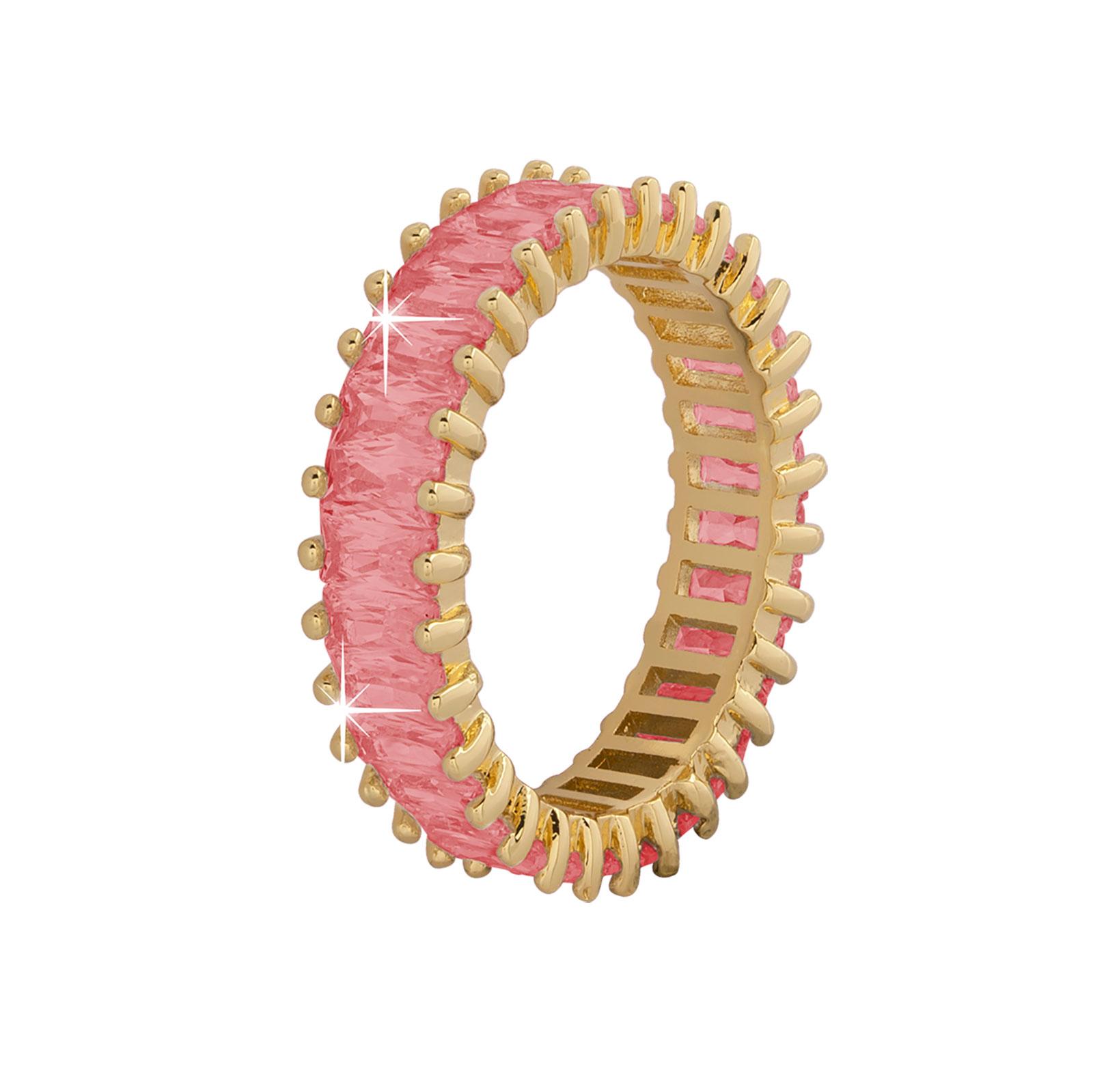 Guldpläterad ring -Rosa