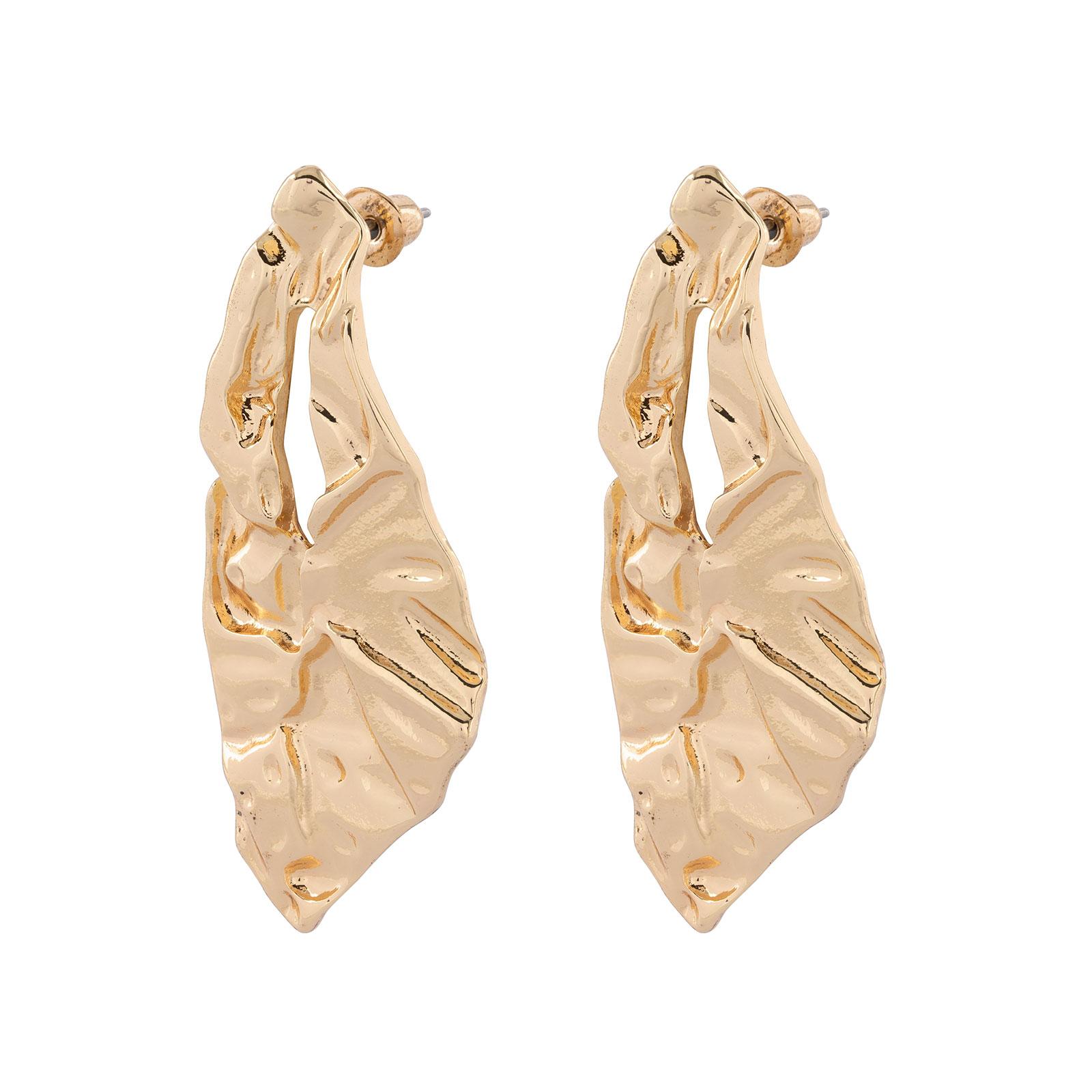 Örhängen - guldfärgade hängande med mönster