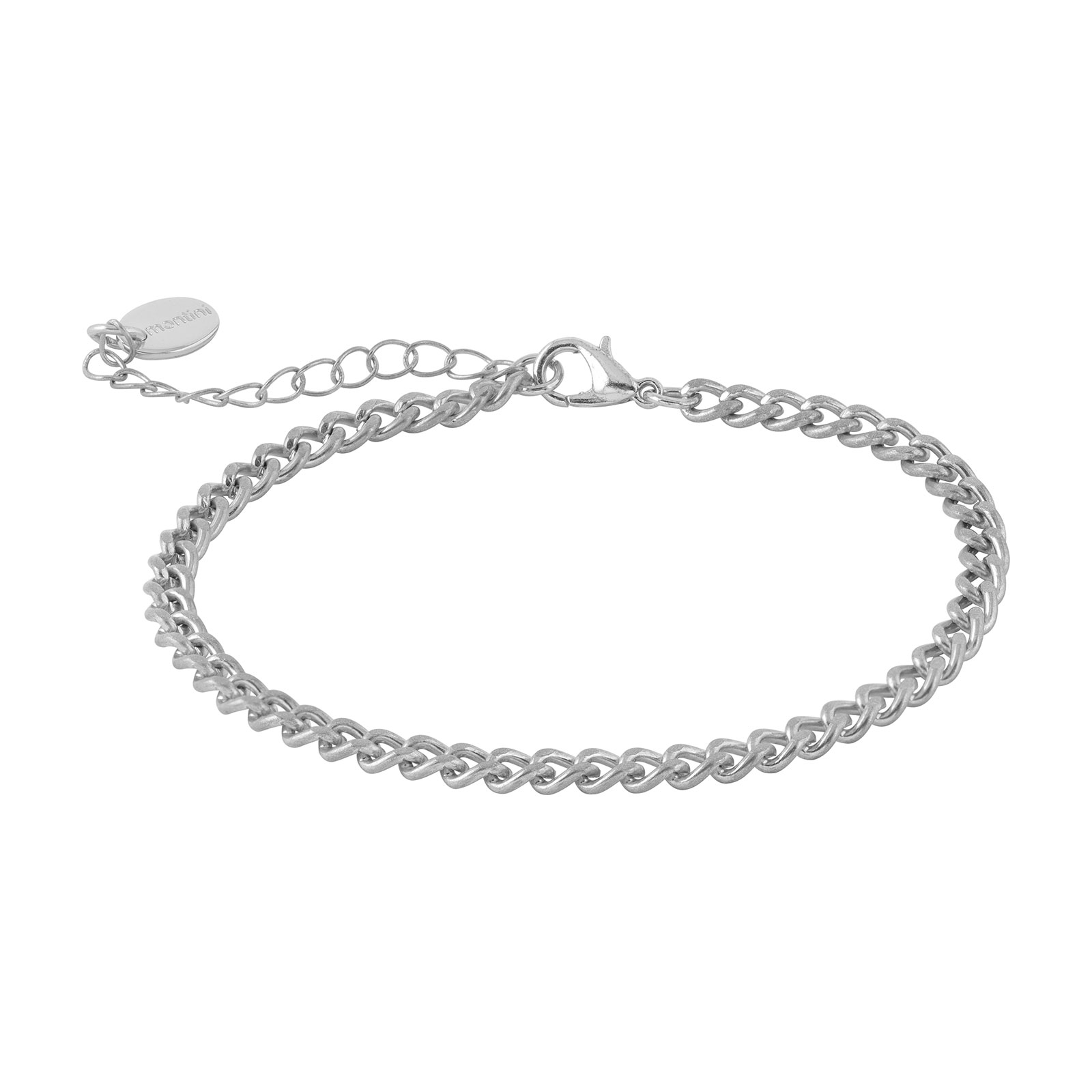 Armband - Silverfärgad tunn kedja