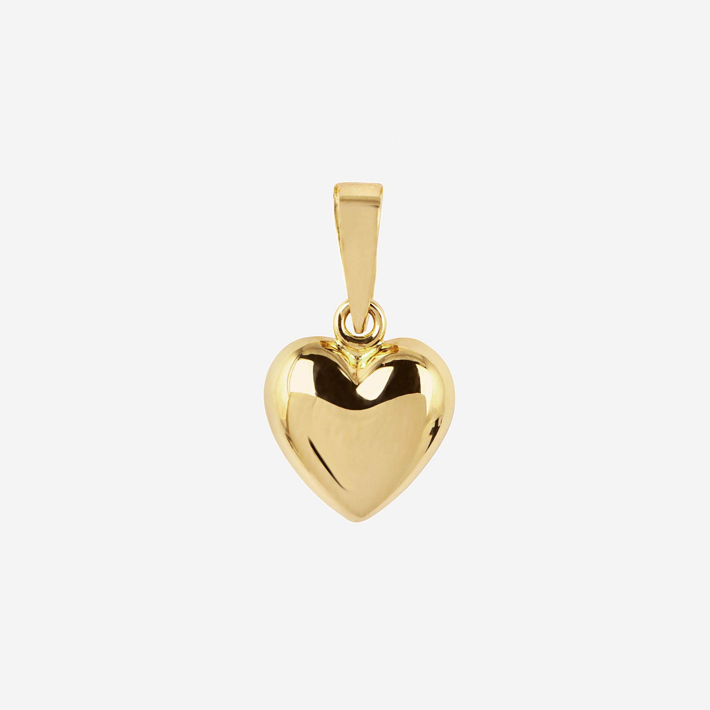 Berlock 18k guld - Bitsäkert Hjärta 8,5 mm