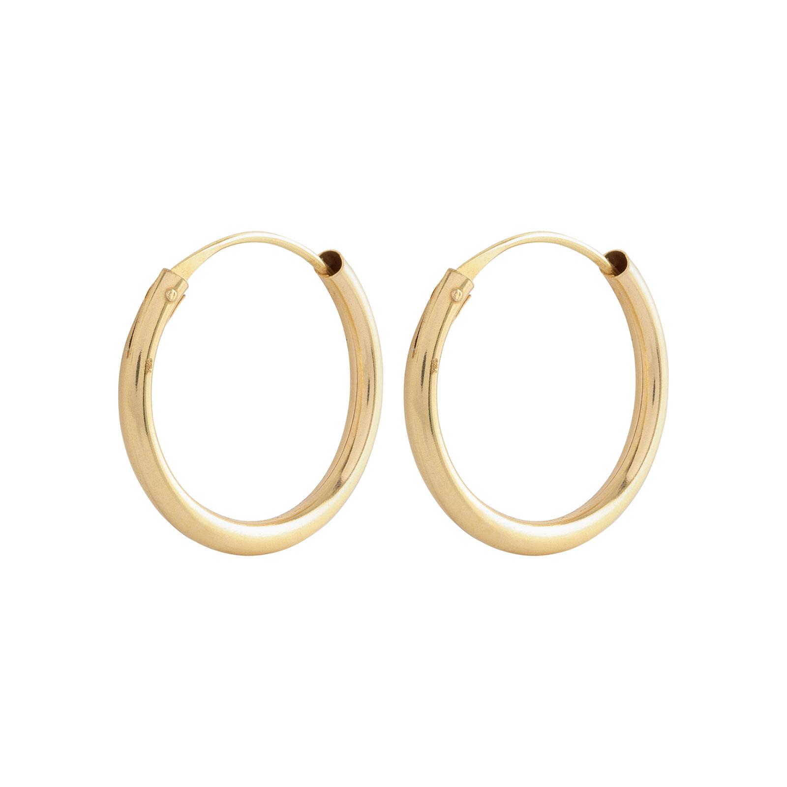 Örhängen 18k guld - Hoops 10 mm