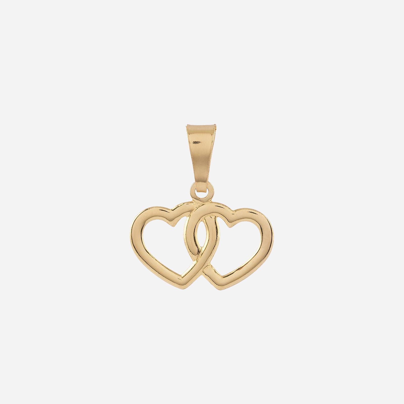Berlock 18k guld - Dubbelt hjärta