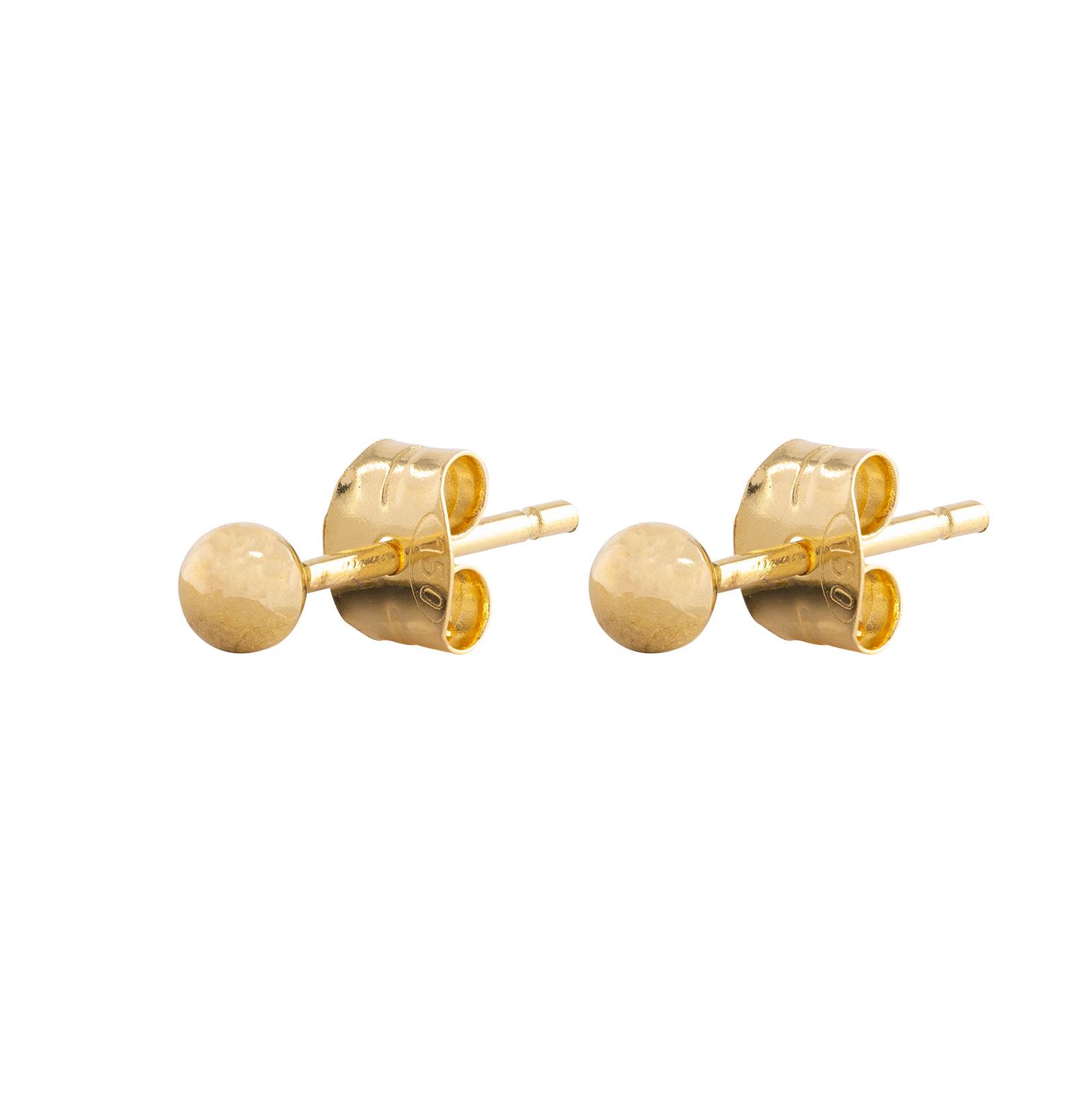 Örhängen 18k guld - kula 3 mm