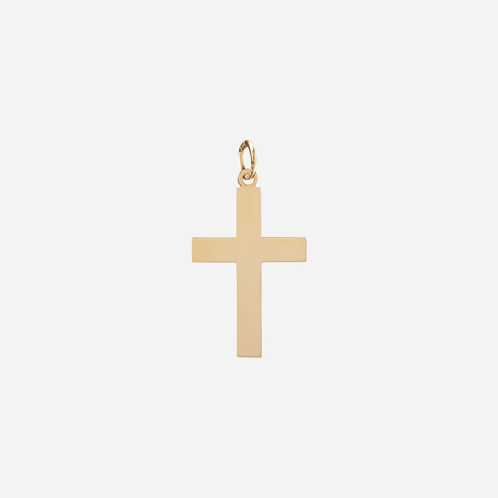 Berlock 18k guld - Kors 9x13 mm