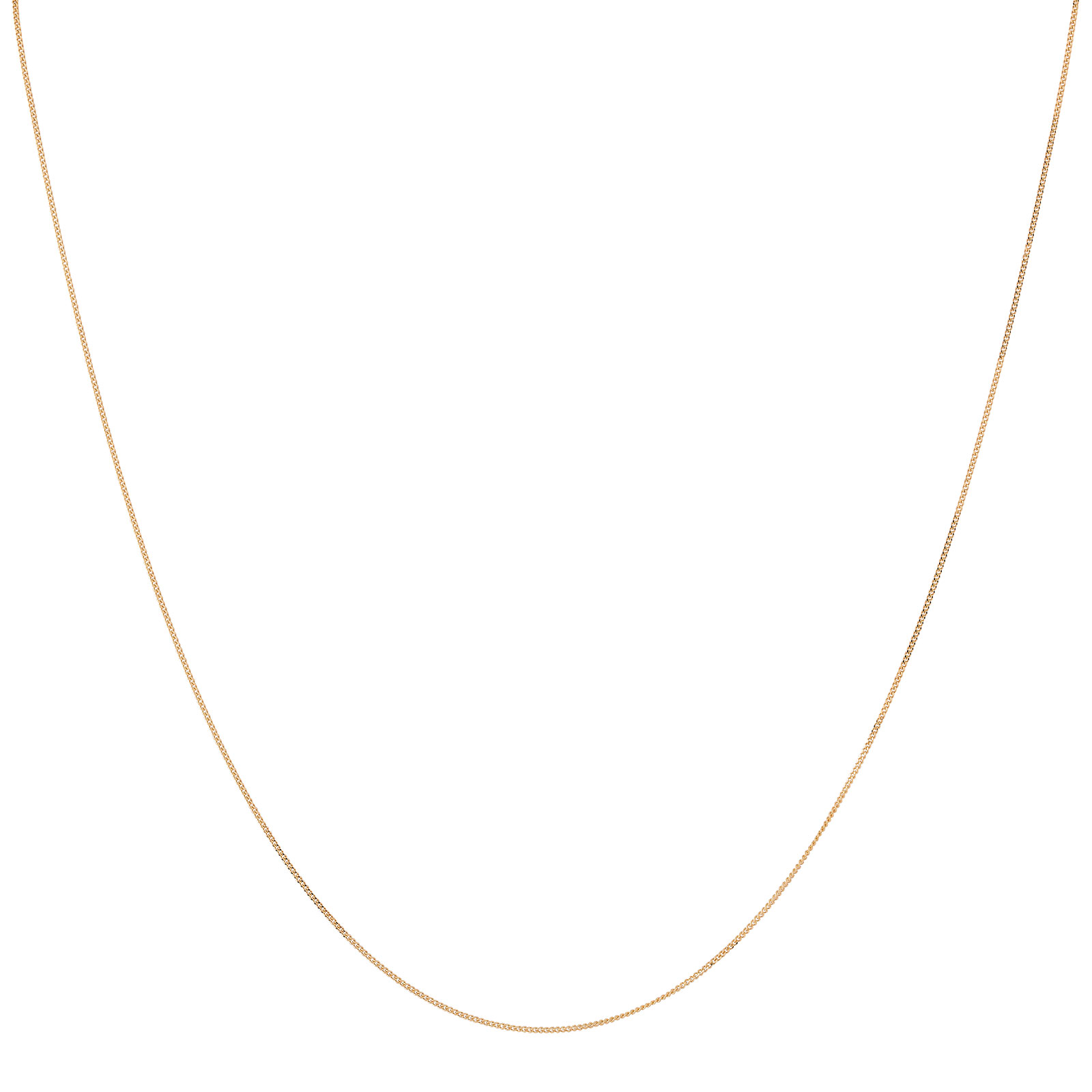 Halsband 18k guld - Pansarlänk 45+5 cm