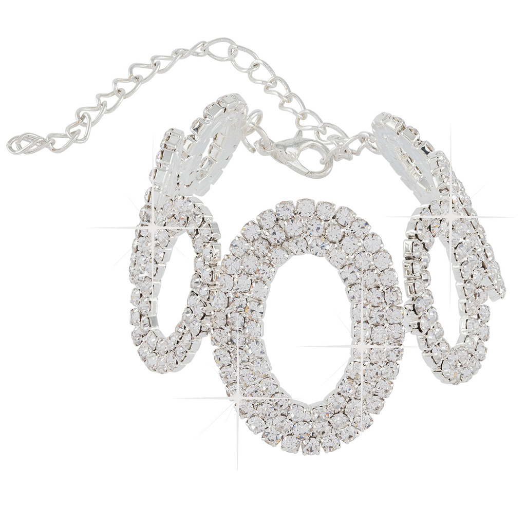 Montini Armband Oval Strass