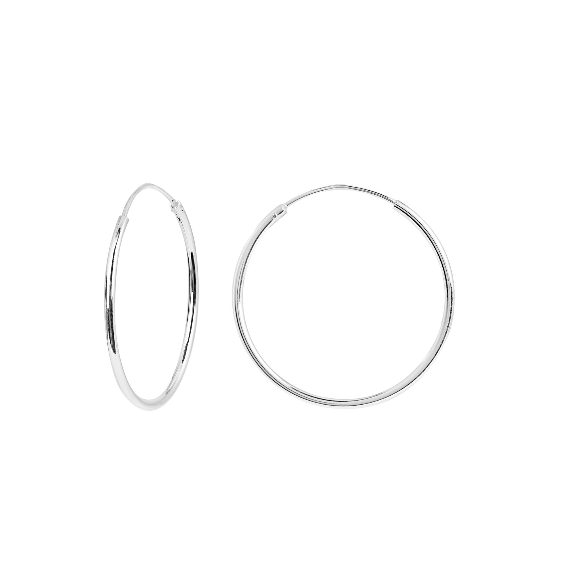 Örhängen i Sterling Silver- Hoops 25 mm