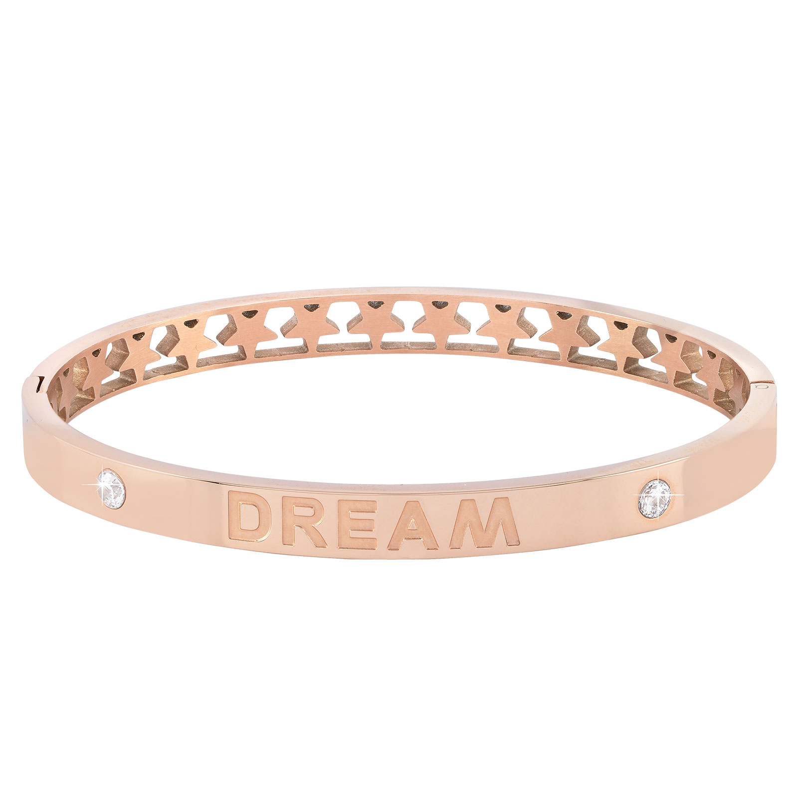 Armband stål, bangle med texten Dream