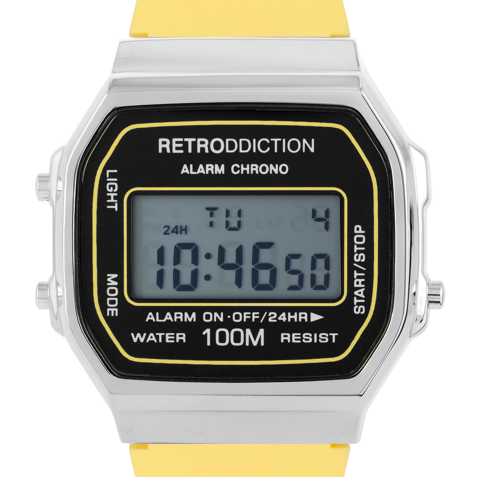 Retroddiction #11 - digitalklocka m. gult gummiband