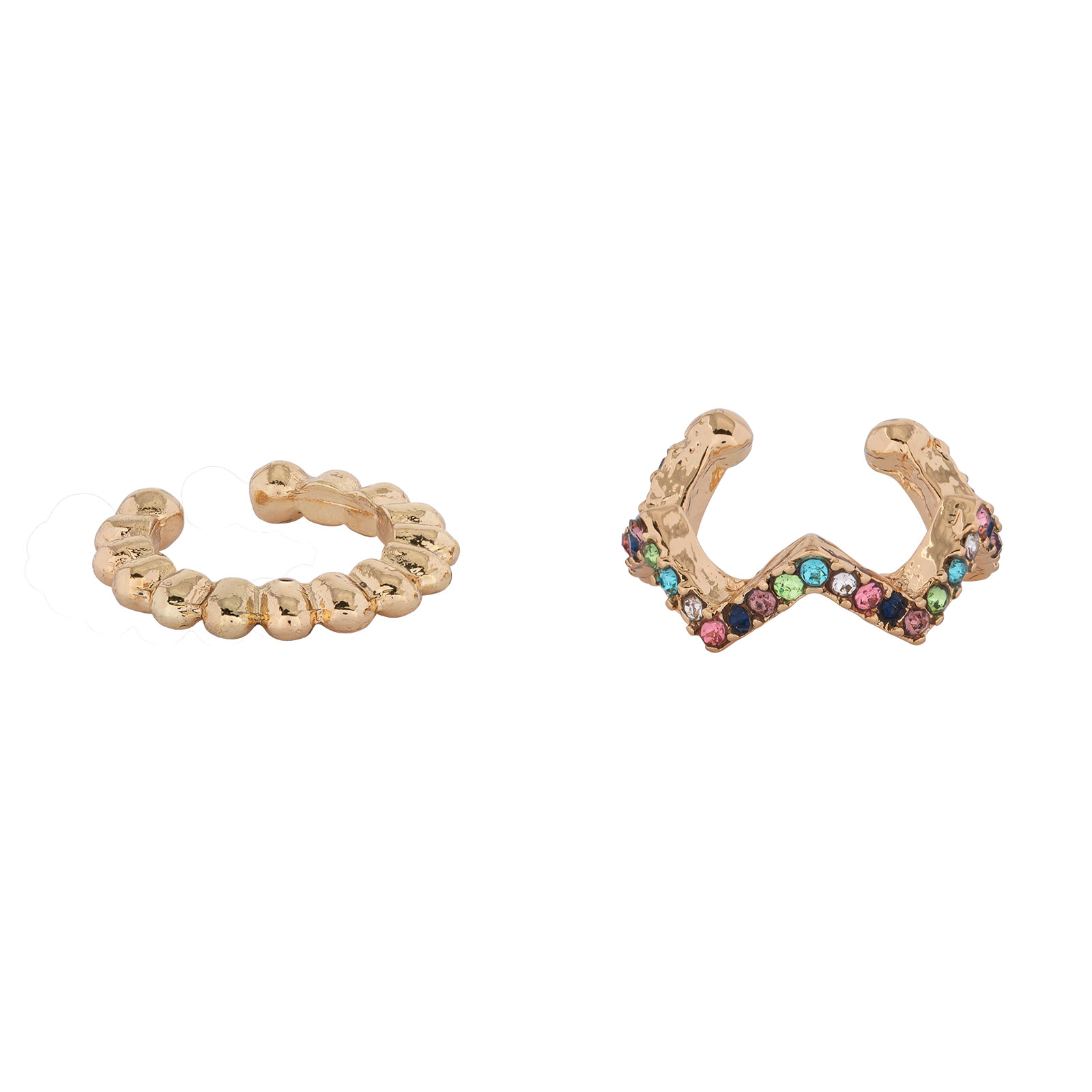 Ear cuffs Multicolor Montini -2 pack